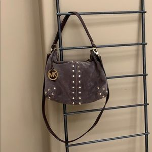 Michael Kors Brown Suede Purse